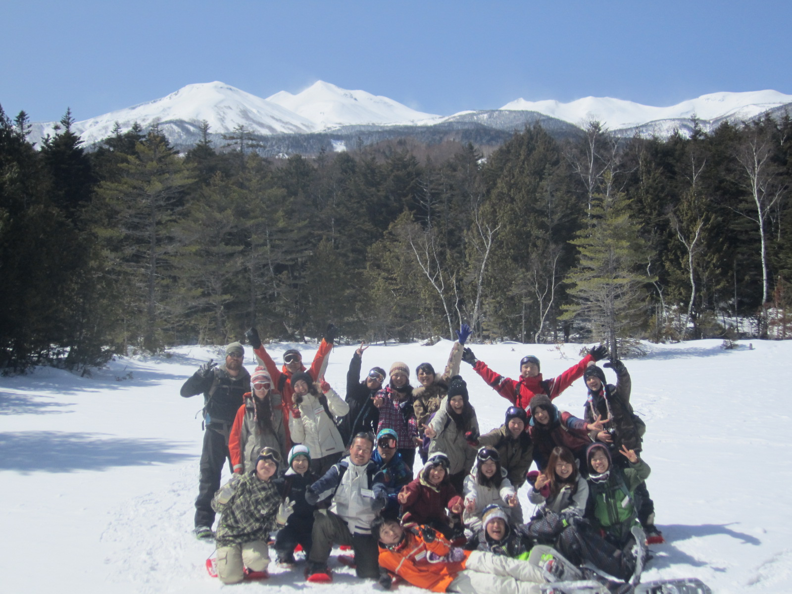 Snowshoeing with 21 guests